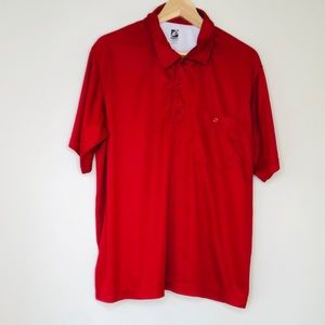 👕HABAND👕ID Insta-Dry👕Mens Red Polo Golf Shirt👕